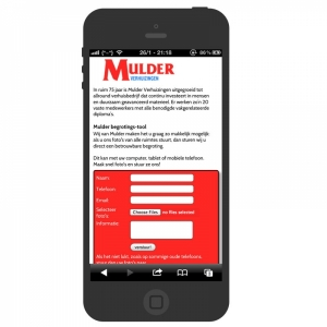 voorbeeld van de responsive website voor Mulder Verhuizingen